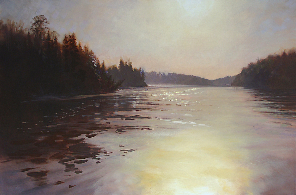 Hungry Jack Lake   60 x 40 oil on canvas