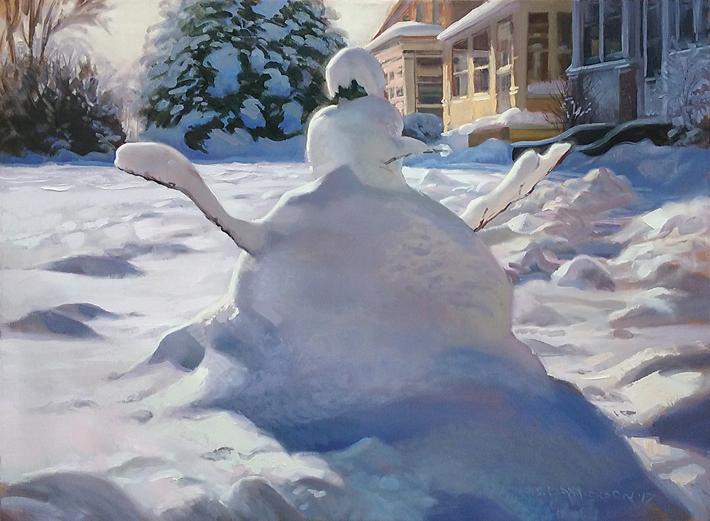 Snowperson 10  36 x 48 oil on canvas