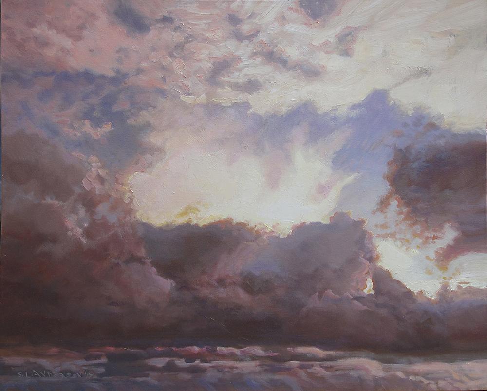Cloud Study  24 x 30 oil on canvas