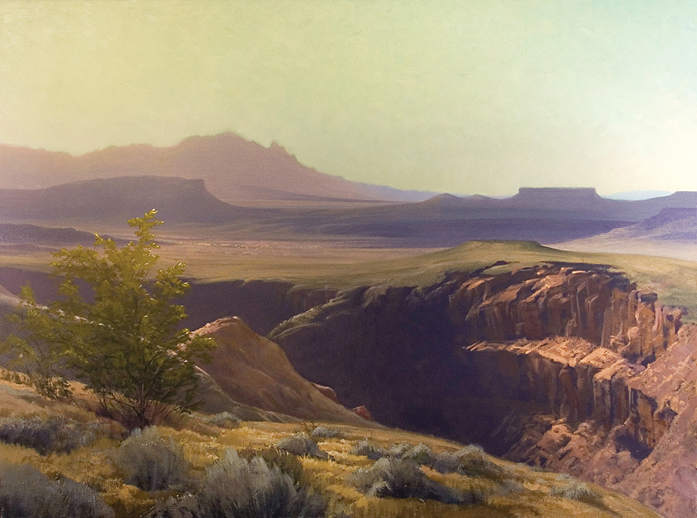 Morning Over Virgin, Utah  36 x 48 oil on linen