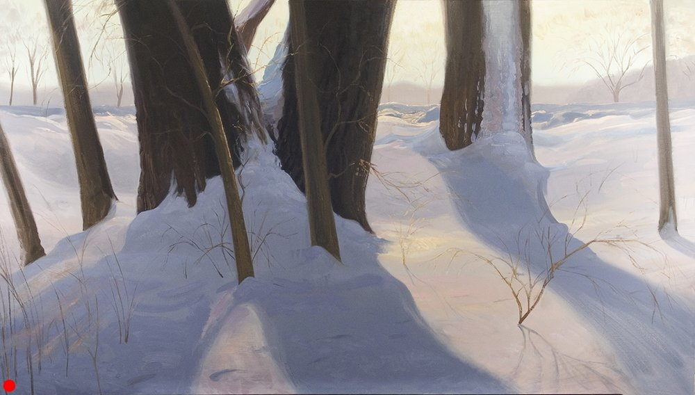 Through the Woods  34 x 60 oil on canvas SOLD