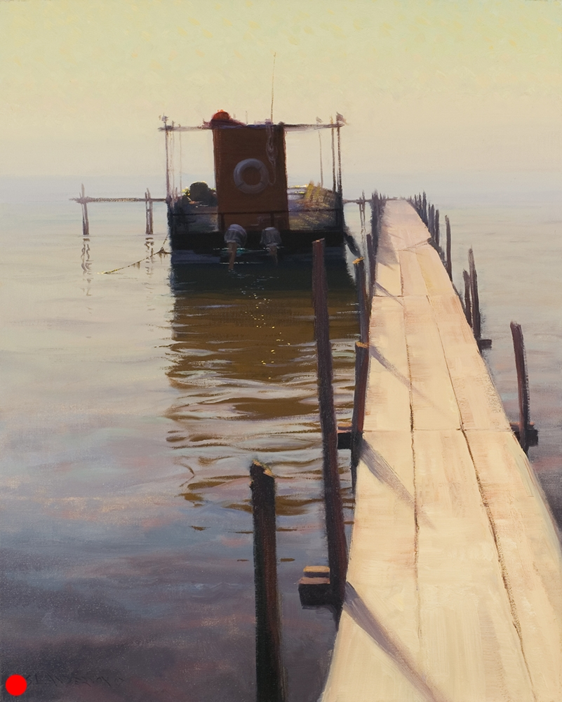 Morning on Lake Mille Lacs  24 x 30 oil on linen SOLD