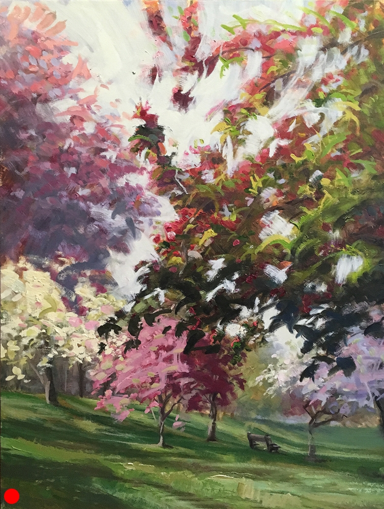 Spring Blossoms  30 x 24 oil on canvas SOLD