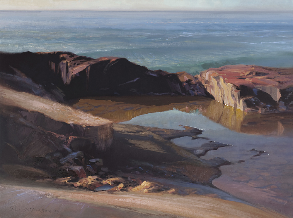 Grand Marais Rocks  30 x 40 oil on canvas