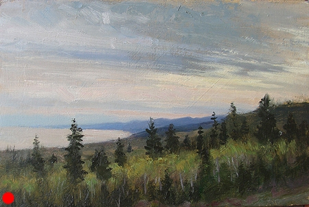 View from Pincushion,  7 x 11 oil on panel SOLD