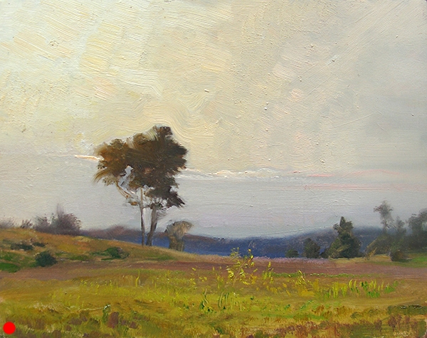 Hot Summer Morning , 10 x 8 oil on panel SOLD
