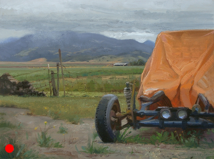 Sonoma Dune Buggy , 12 x 16 oil on panel