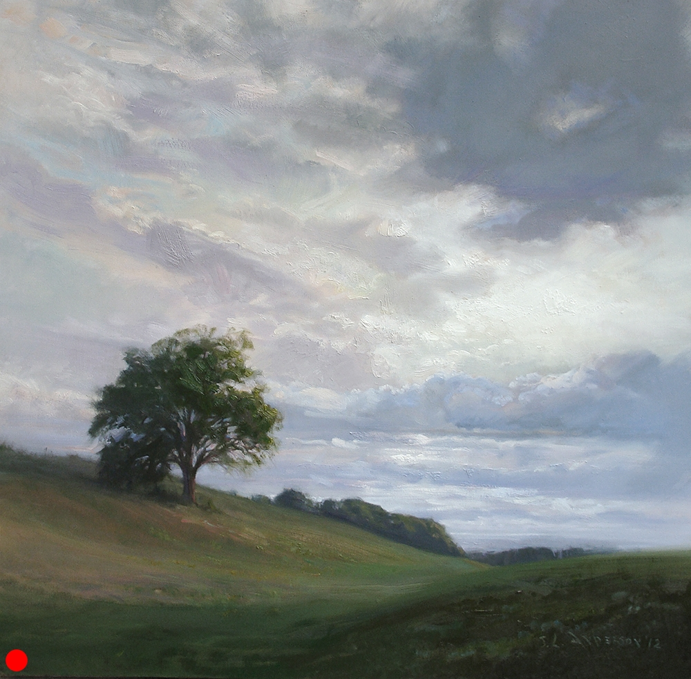 Beautiful Summer Sky  40 x 40 oil on canvas SOLD
