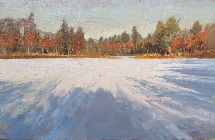 Fall Colors Up North , 7 x 11, oil on panel