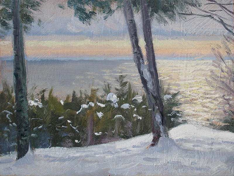 Midday Glare , 6 x 8, oil on panel