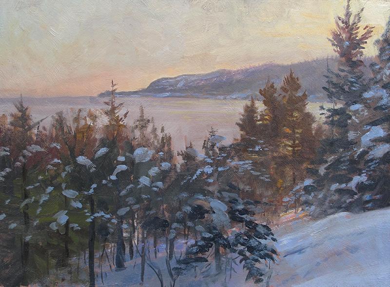 Sunset Glow , 12 x 16 oil on panel