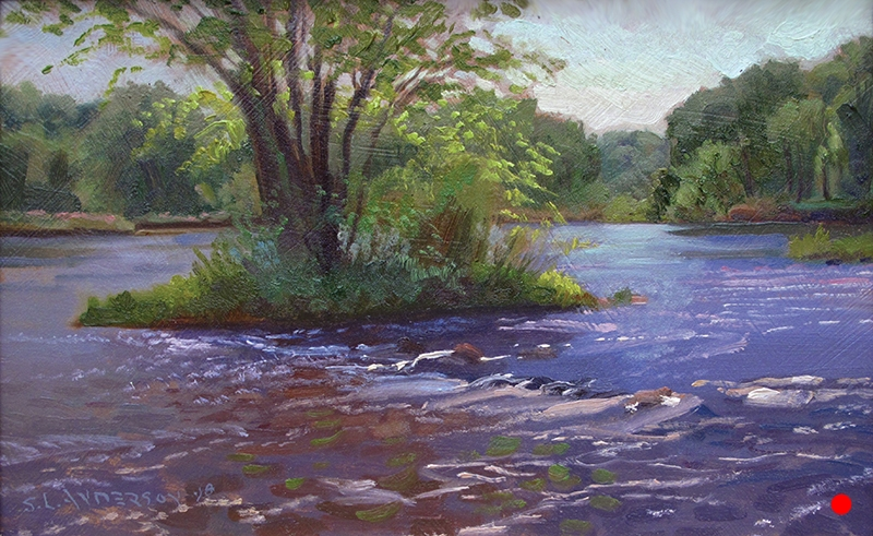 June on the Namekagon   7 x 11 oil on panel