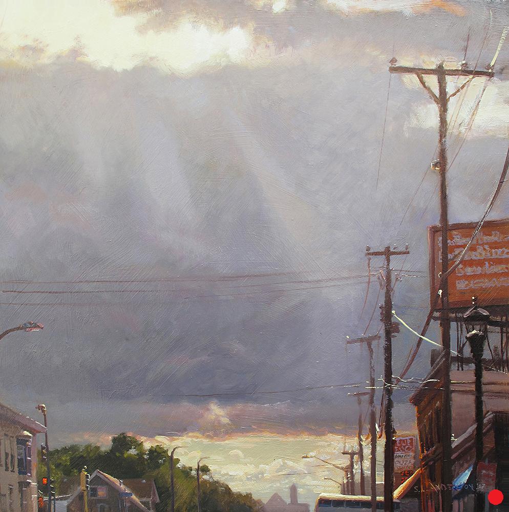 Sunbeams on 38th Street   (SOLD) 24 x 24 oil on panel