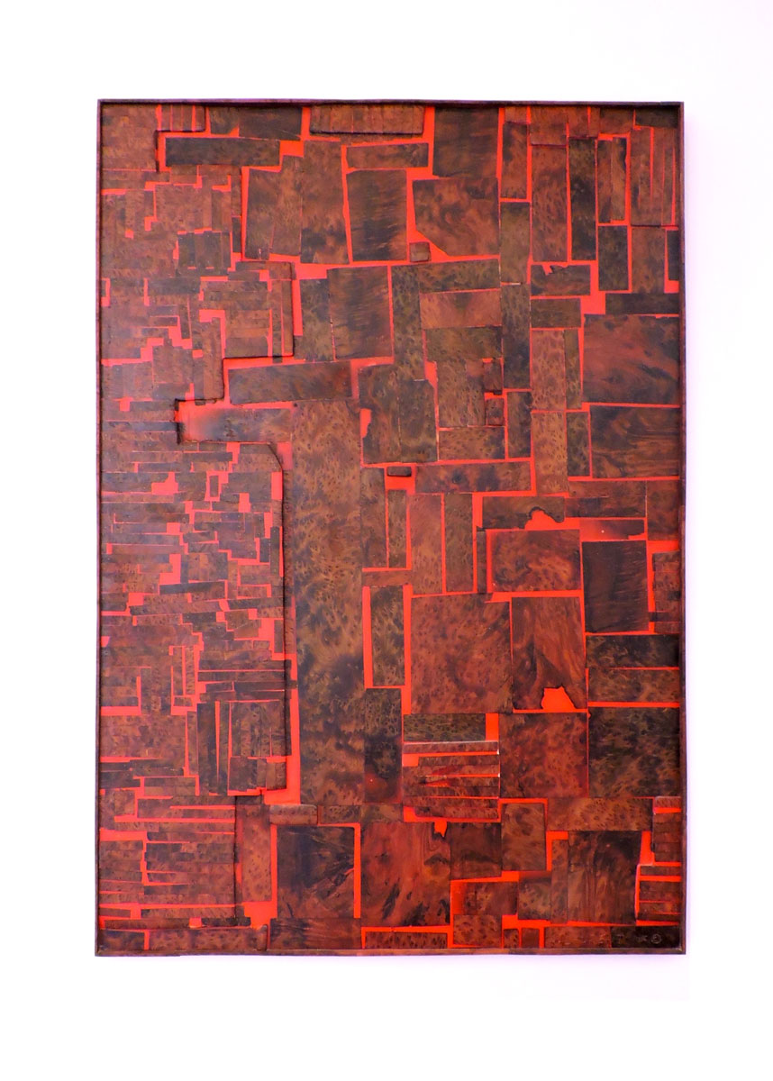City View - Abstract rendition of SF, made of redwood and epoxy