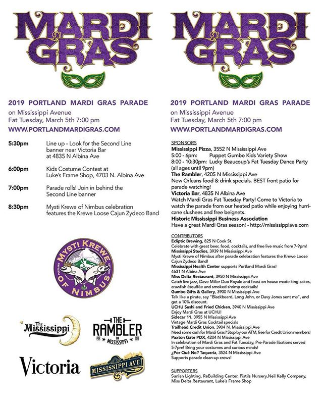 Join us for a fun evening on Fat Tuesday, March 5th! Home made King cakes, Crawfish Etouffee, smoked shrimp cocktail, live jazz and much more! Watch the parade and have some fun!!
