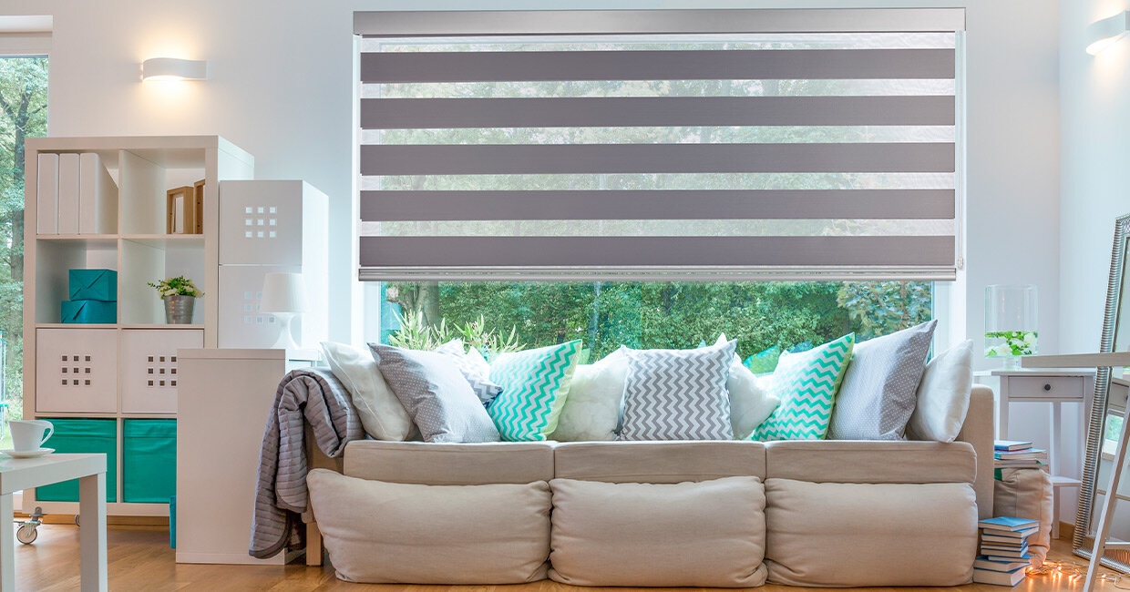 shades banded blinds designs dual