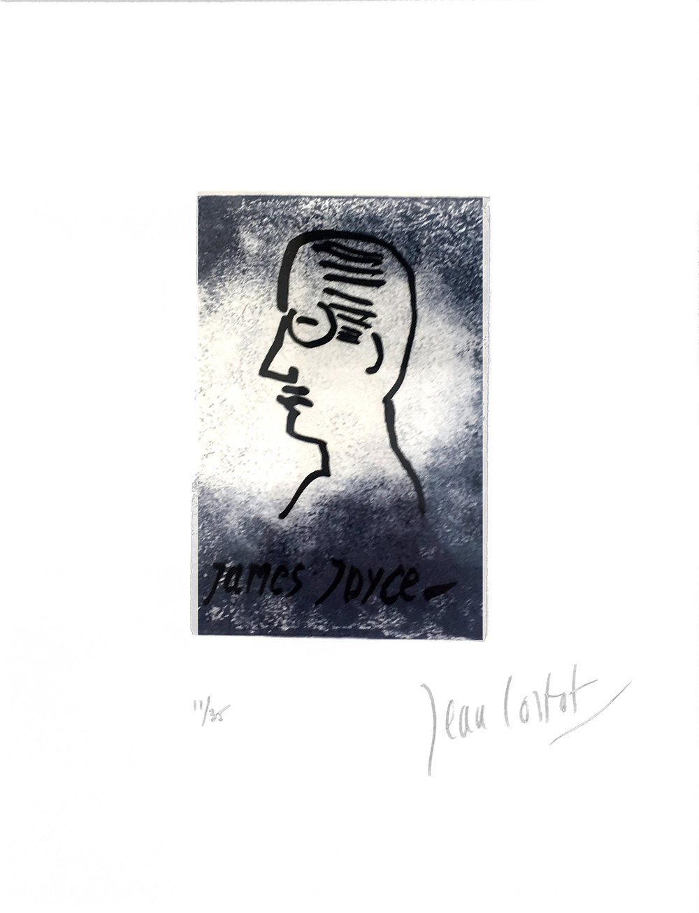 James Joyce,  Original Etching, 2015, 13 x 10 in. Signed and Numbered 11/ 35.