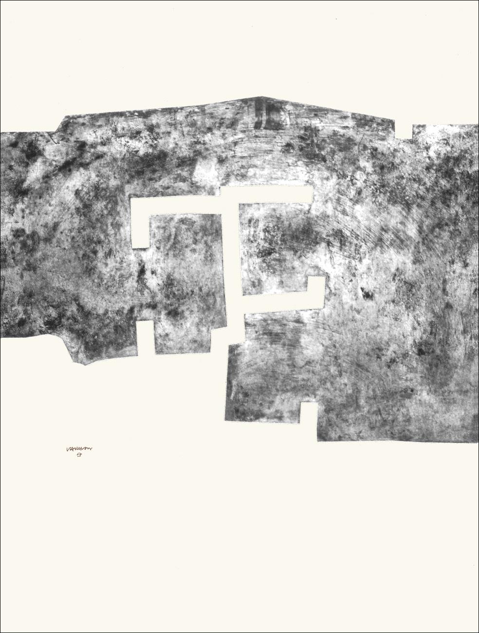 Eduardo Chillida - Euzkadi V, Original Etching, 1974. 63 x 47.6 in., Signed and Numbered 47 x 50