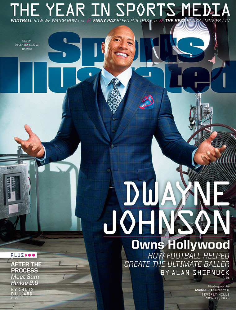 Dwayne Johnson featured on Sports Illustrated -