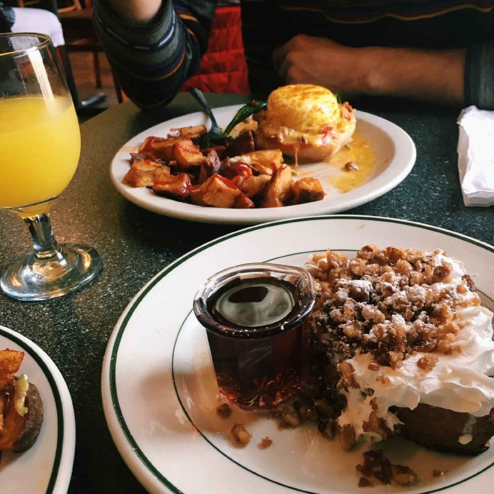 Breakfast at Studio One Cafe in Eugene, Oregon