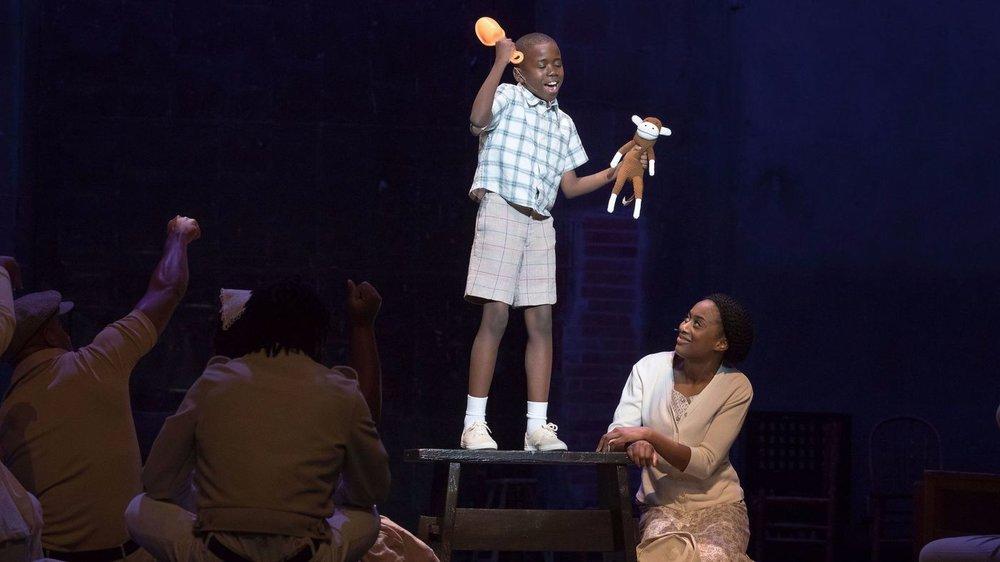 Joel Baptiste Muepo as Alex and Zuri Adele as Grace.