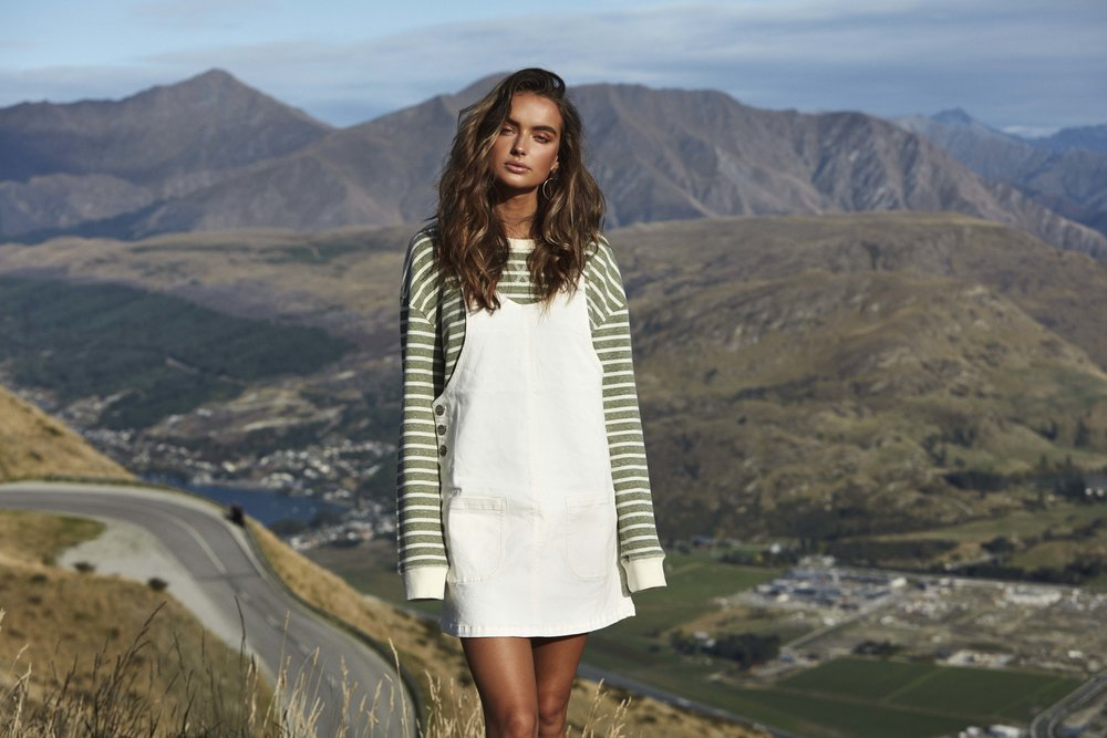 Daybreak Pinafore Dress Natural and Classic Pullover Army 4.jpg