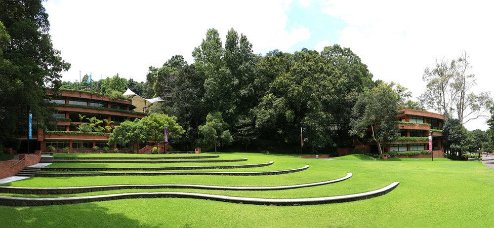 The main lawn at University Francisco Marroquin