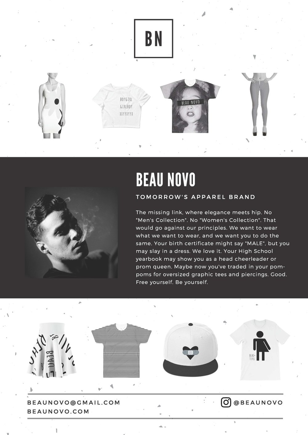Beau Novo Press Kit crafted by Bobby from Mad Marketing