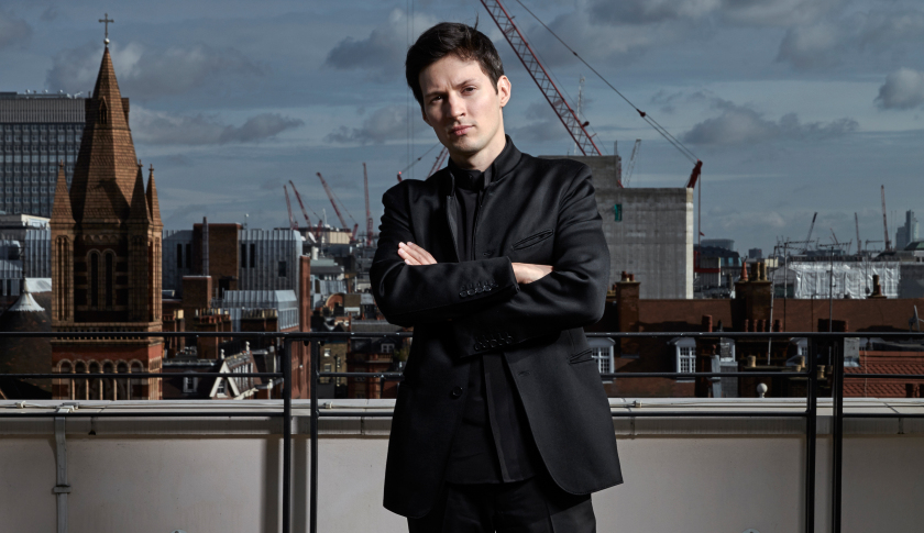 Pavel Durov, CEO of Telegram, always dressed in black.
