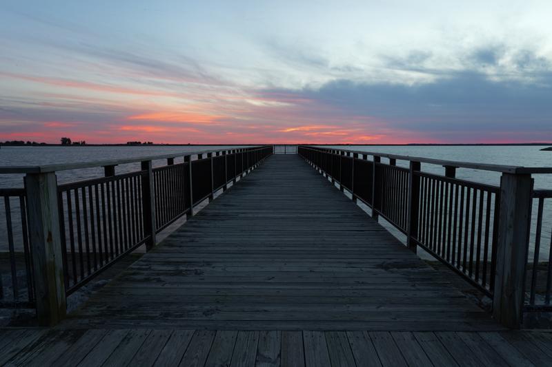 Lake Erie boardwalk, South Buffalo.