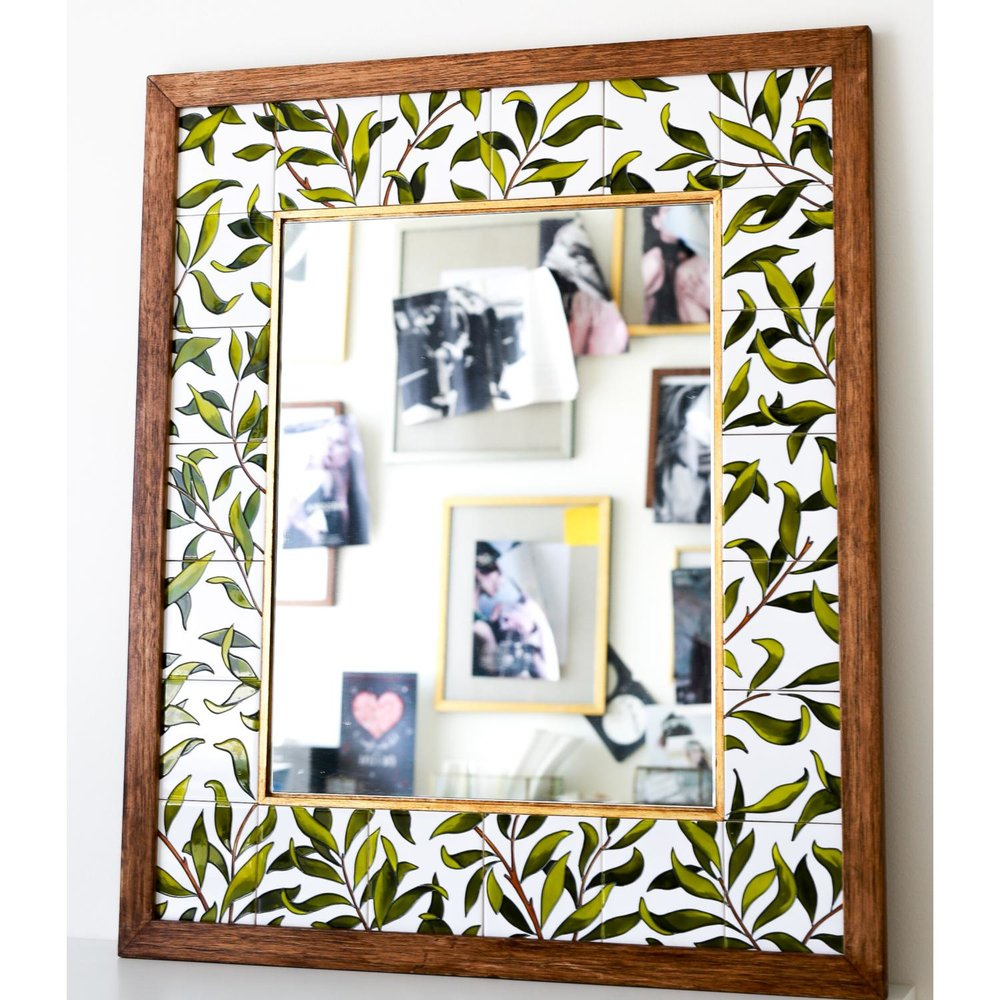 Bespoke mirrors with hand painted frames — LE MOTIF