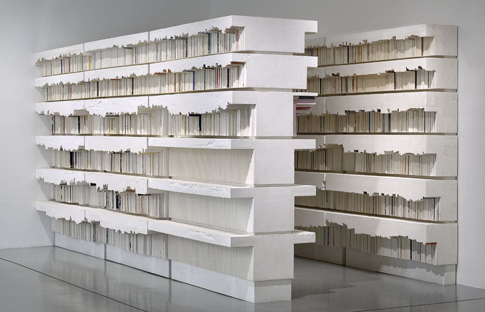 """Rachel Whiteread, """"Untitled (Library)"""" (1999)  the index; evidence of material and action"""
