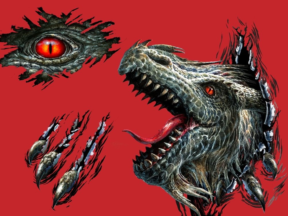 Metal Dragon Decal - by ©Liz Goodrick-Dillon