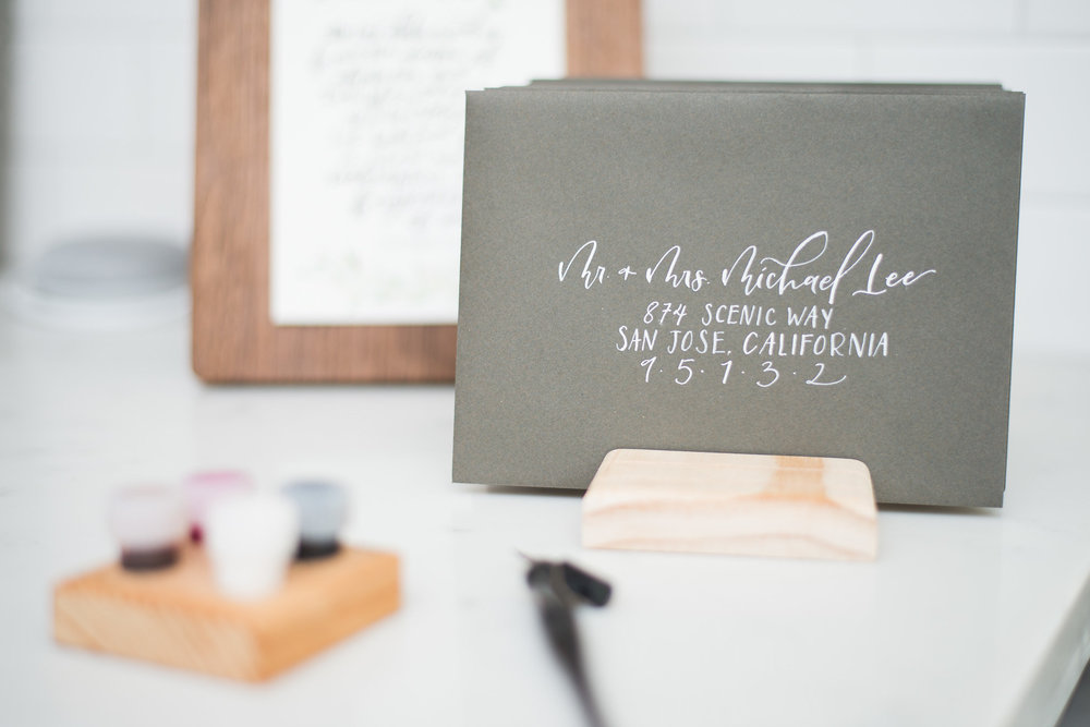 Modern Calligraphy ------ Classic layout in white