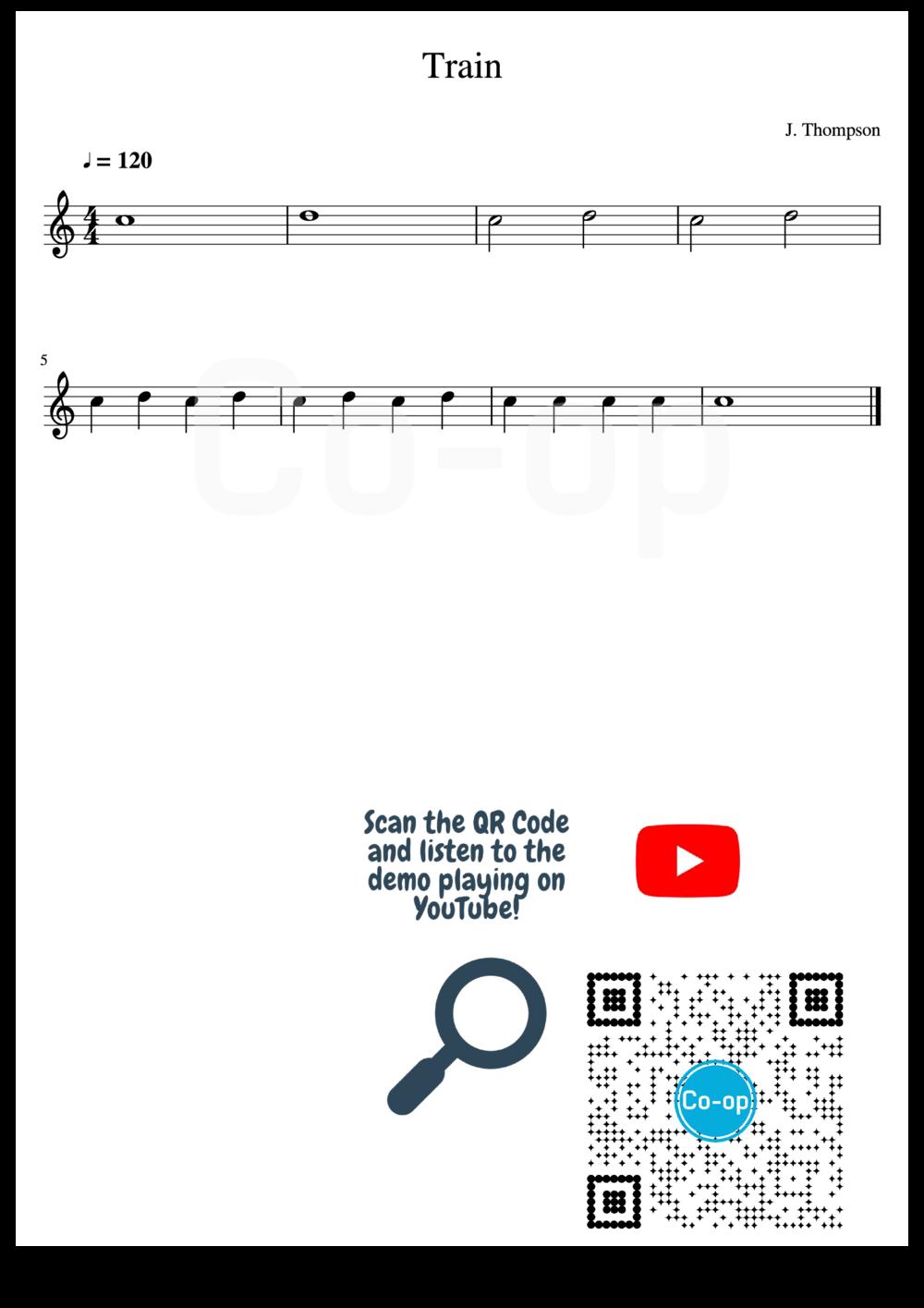 Train | Staff Notation | Free Sheet Music