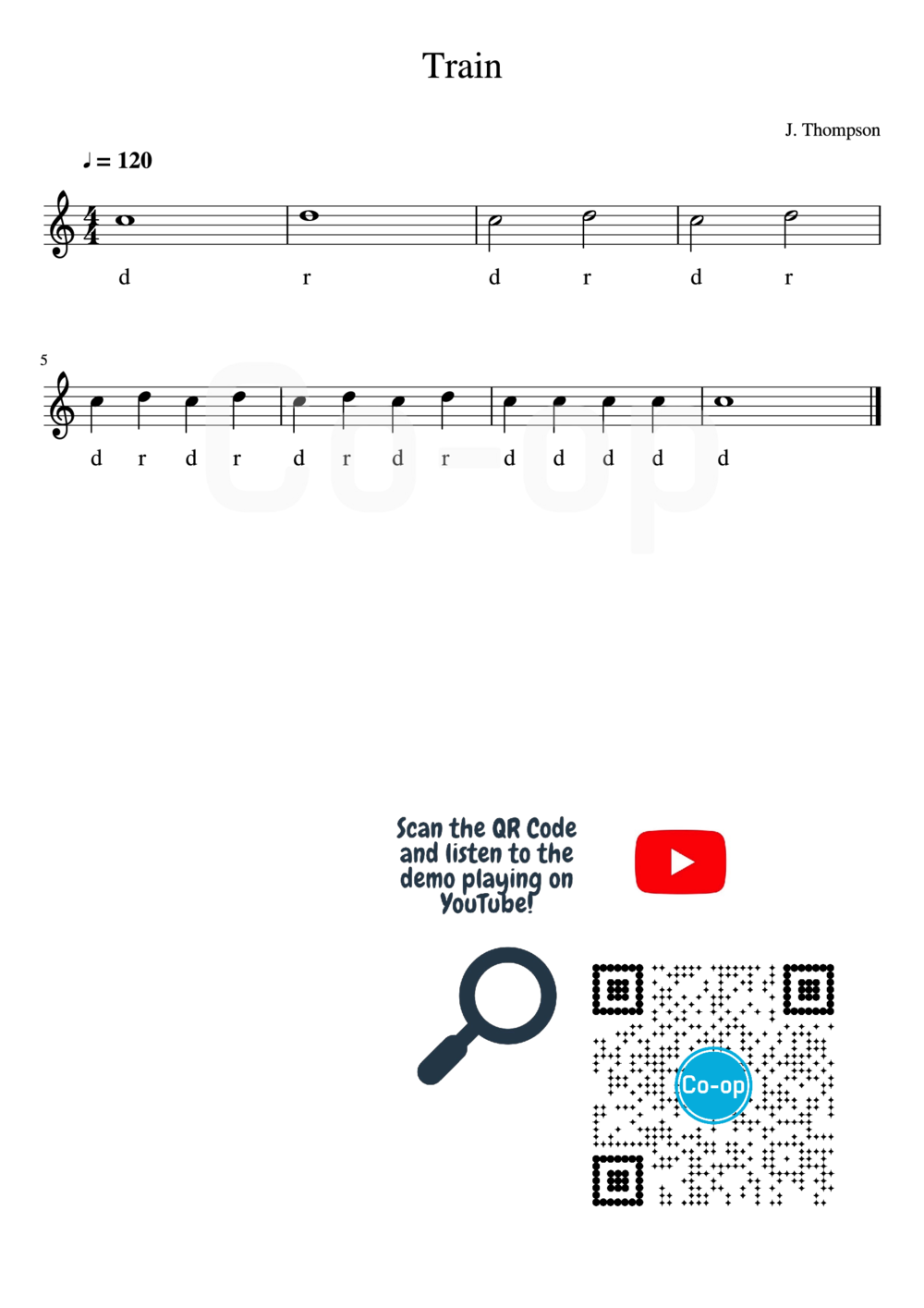 Train | Solfege Notation | Free Sheet Music