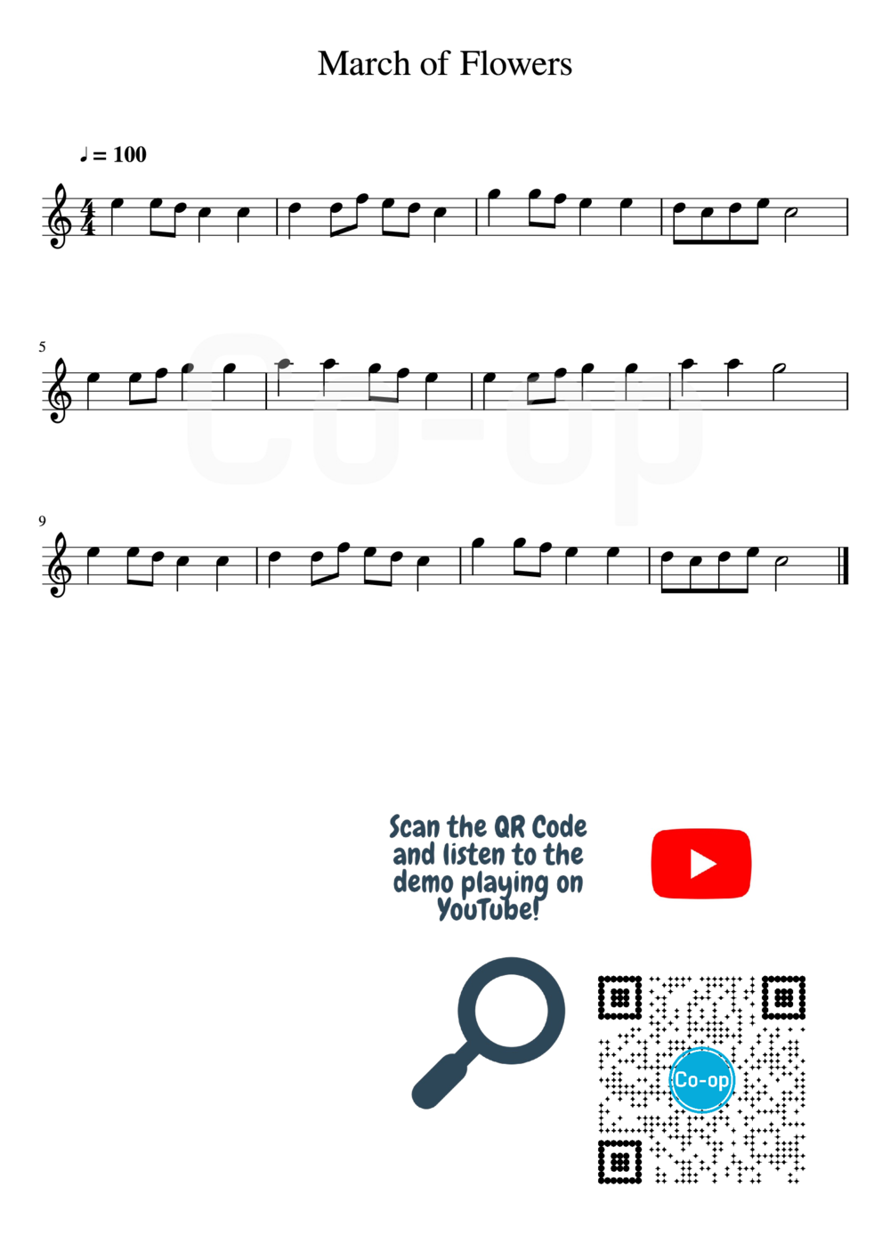 March of Flowers | Staff Notation | Free Sheet Music