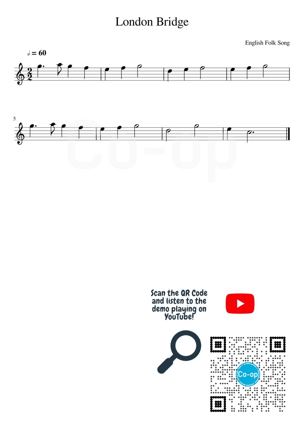 London Bridge | 五線譜 | Co-op 口琴學堂