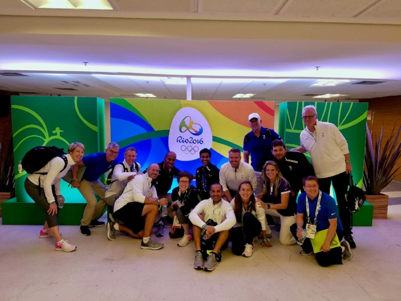 The Team leaving Rio 2016 Opening Ceremony