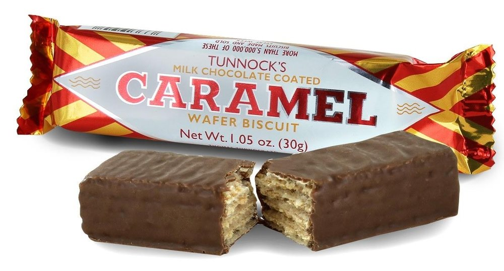 Carmamel Tunnocks Waffer Biscuit - Scotland