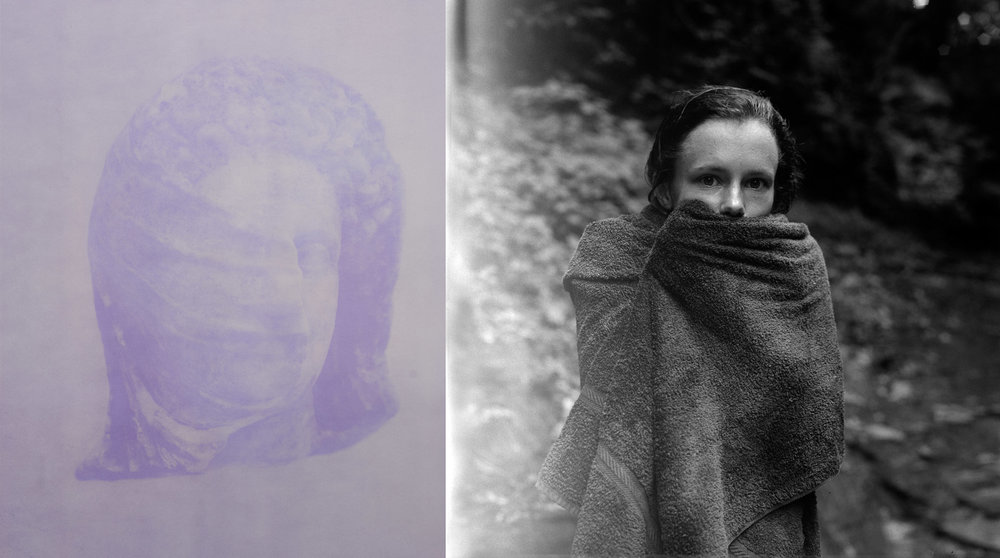 Looking Back   (diptych), 2014 Left: Anthotype 27.5 x 22 inches Right: Silver gelatin print 27.5 x 29 inches Ed: 3 + 2AP