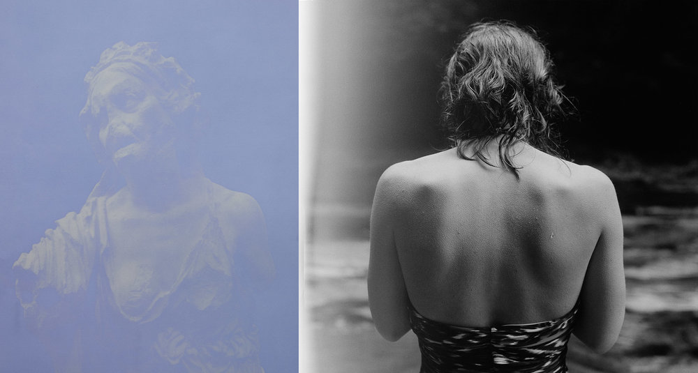Pillars of Salt   (diptych), 2014 Left: Anthotype 23 x 19 inches Right: Silver gelatin print 23 x 23 inches Ed: 3 + 2AP