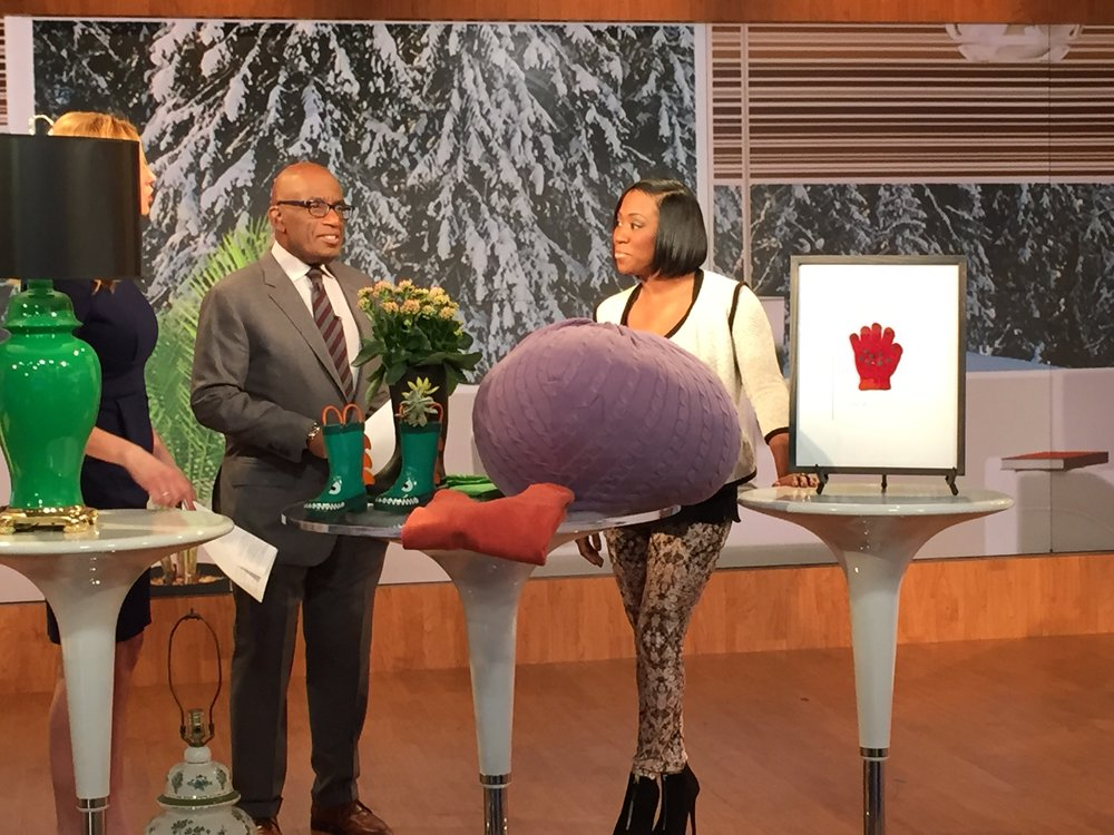 Dayka Robinson, Al Roker, Stephanie Abrams, Wake Up With Al segment, Jan 2015-3.JPG