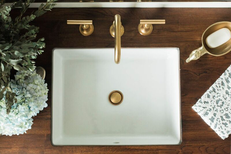 Dayka Robinson Brookside Oak Guest Bathroom Renovation Sink Kohler Brass Butcher Block low res.png