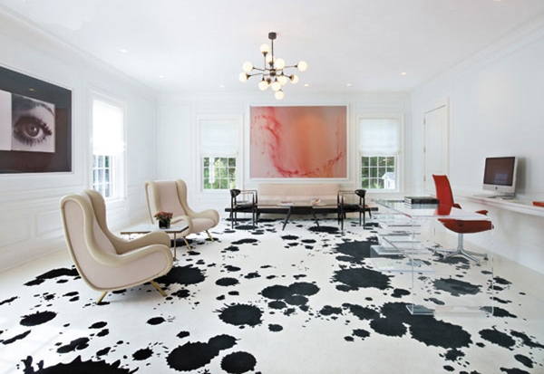 Splatter-painted-floors, dayka robinson, via decoist.com
