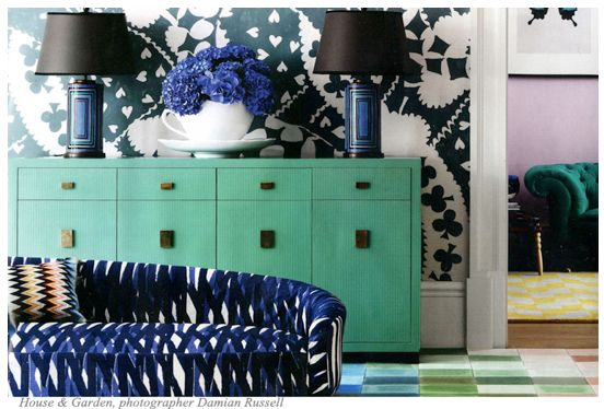 case pieces:lighting, dayka robinson designs, via houseandhome.com
