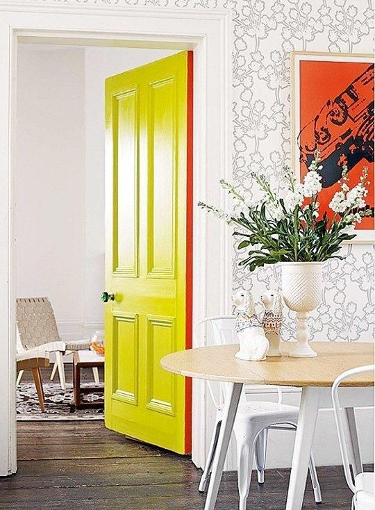 door paint, dayka robinson designs blog, via apartmenttherapy.com