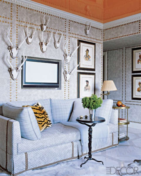 painted ceiling, via elledecor.com