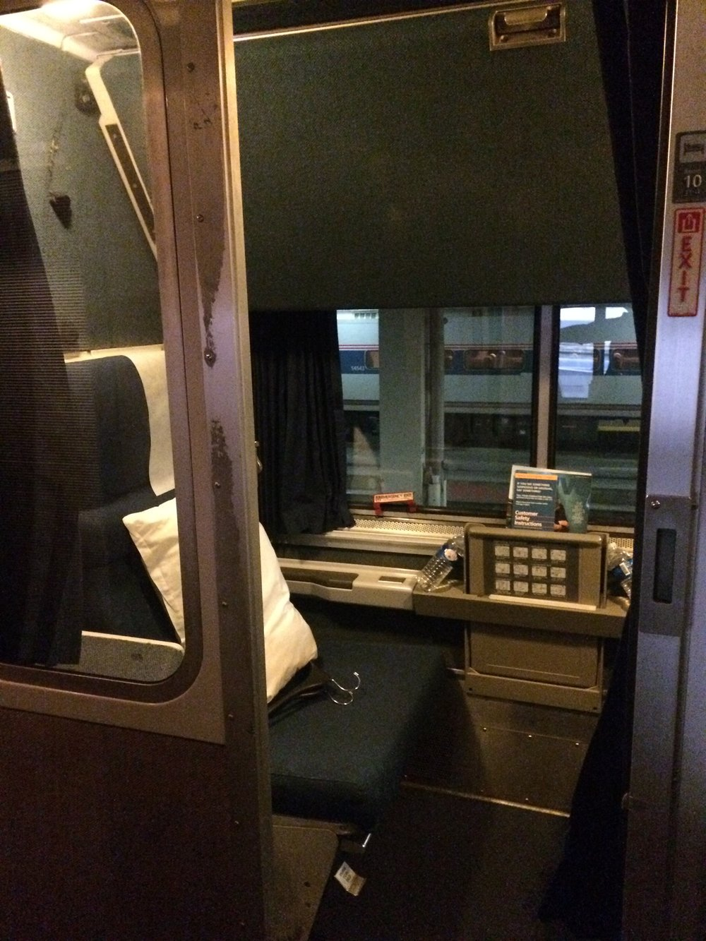Amtrak California Zephyr Roomette 2015