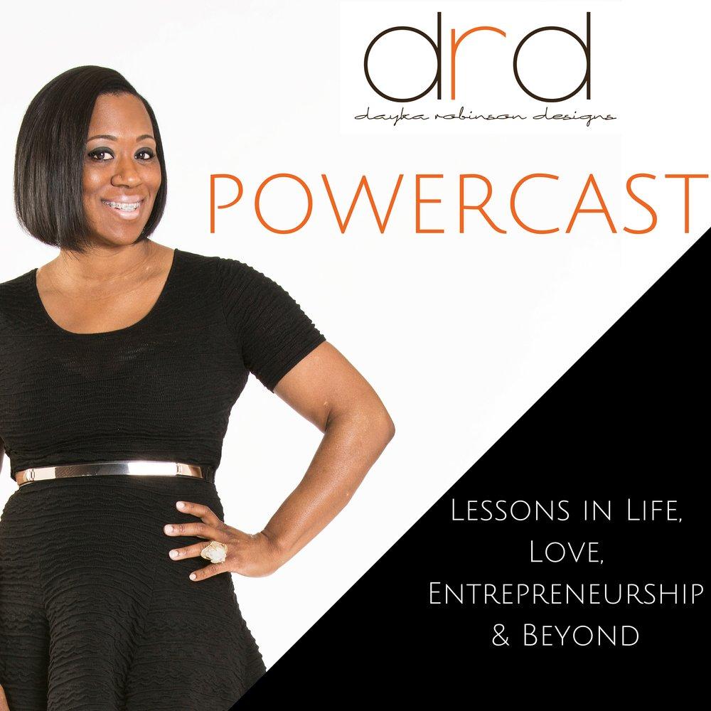 Dayka Robinson's Powercast Logo